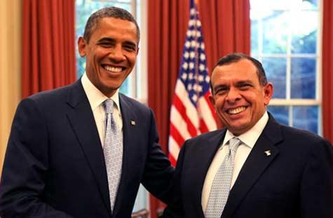 United States President with President Lobo